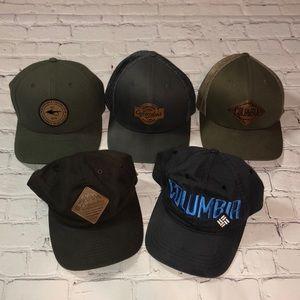 Lot of 5 Columbia PFG hats